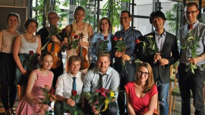 Die Musiker des Projekts KlangKörper treten am 11. November 2015 in der Würzburger Universitäts-Kinderklinik auf. Foto: KlangKörper