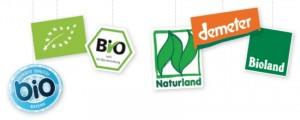 Logos: www.stmelf.bayern.de/bio-siegel, www.ec.europa.eu, oekolandbau.de, naturland.de , demeter.de, bioland.de