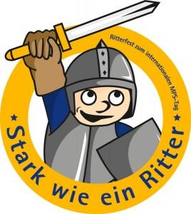 """Logo KinderKunst-Wettbewerb """"Stark wie ein Ritter"""""""