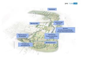 Gut gerüstet für die Zukunft: Das Universitätsklinikum Würzburg plant umfangreiche Baumaßnahmen Bildquelle: gmp TEAMPLAN