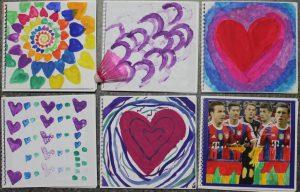 Die Schülerinnen der 5. Klasse der St.-Ursula-Schule beleuchten in ihren Projekttagebüchern das Thema Herz & Bewegung sehr vielseitig. Foto: DZHI