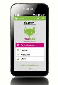 Die ToxFox-App gibt schnelle Auskunft über belastete Körperpflegeprodukte. Foto: Bund