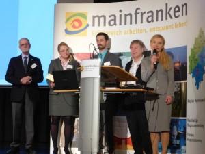 Von links nach rechts: Prof. Dr. Christoph Reiners, Sandra Bühring, Florian Karl, Dr. med. Walter Kromm, Åsa Petersson. Foto: Regina Rodegra
