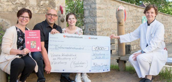 Melissa Spiegel spendet 1.300,- Euro für Frühchen in der Missio Kinderklinik