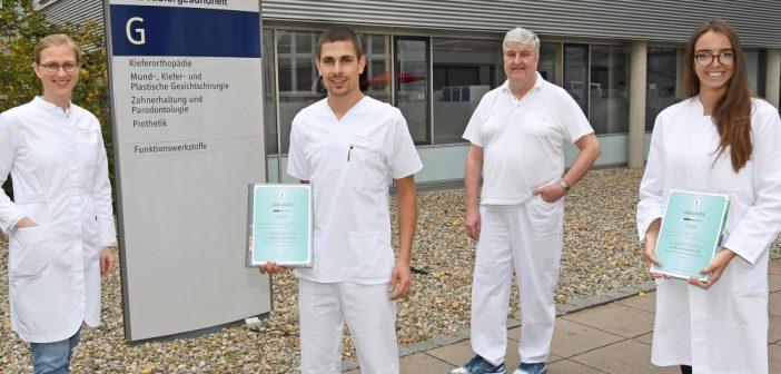 Würzburger Zahnmedizin-Studierende mit bundesweitem Nachwuchs-Preis ausgezeichnet